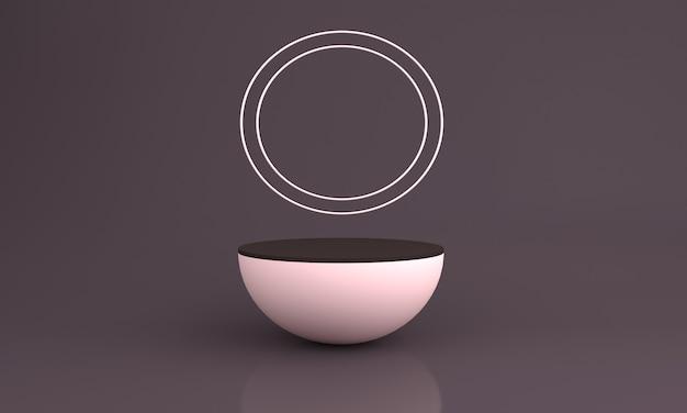 Podium design 3d illustration design mit cercal