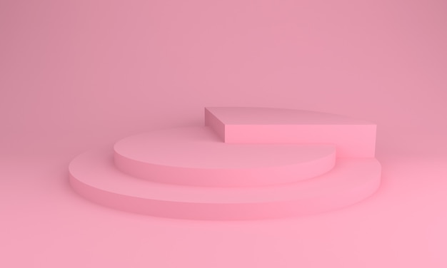 Podium design 3d illustration rosa farbdesign