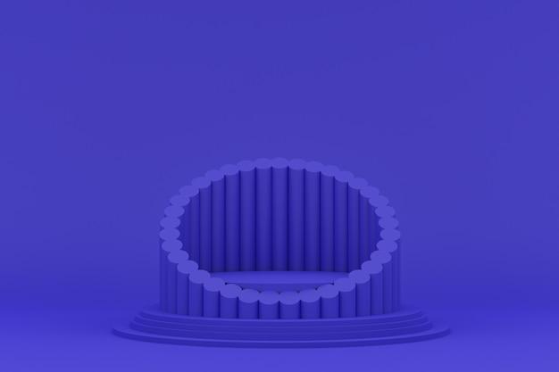 Podium minimal auf lila hintergrund für kosmetische produktpräsentation