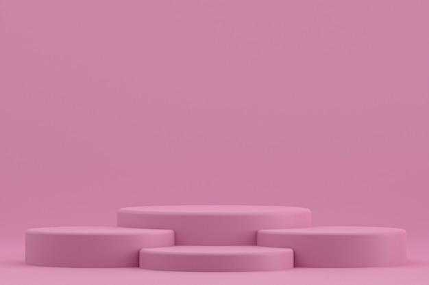 Podium minimal oder produktständer für kosmetische produktpräsentation