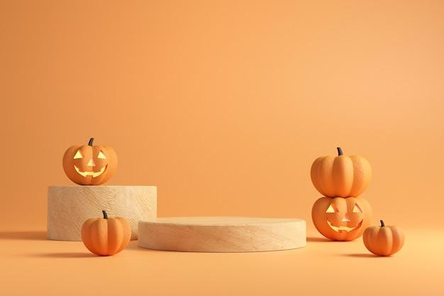 Podium oder bühne für halloween.