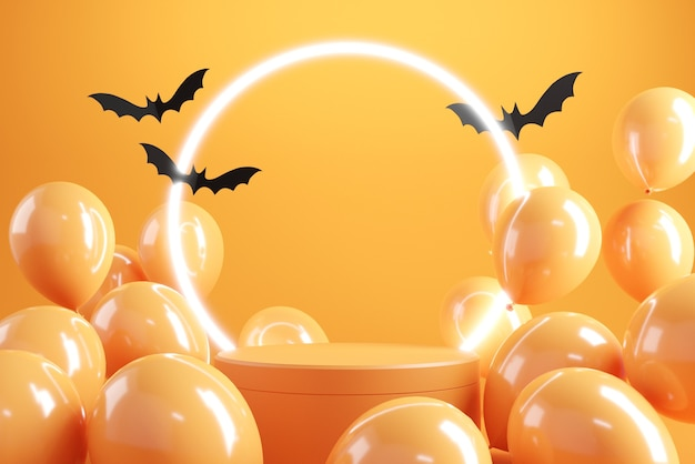 Podium oder bühnenhintergrund für halloween