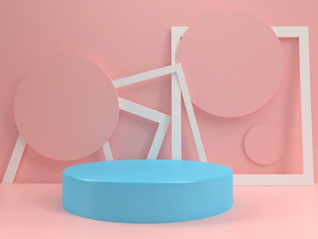 Podium pastell modell vorlage sommer stil minimal