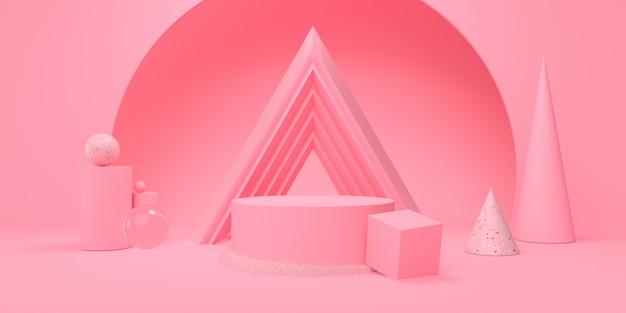 Podium und geometrische formen