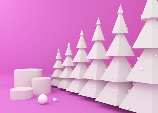 Podiumsdisplay für produktpräsentation, weihnachtsbaum