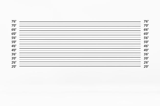 Polizei lineup hintergrund extreme nahaufnahme. 3d-rendering