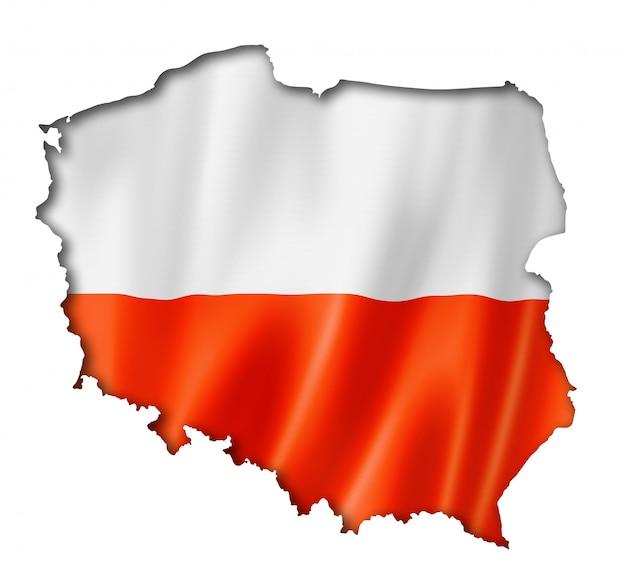 Polnische flagge karte
