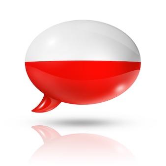 Polnische flagge sprechblase
