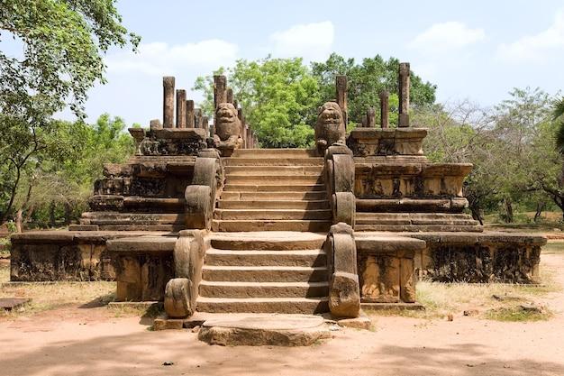 Polonnaruwa, audienzsaal in der alten hauptstadt von ceylon