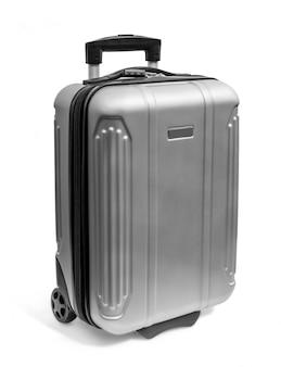 Polycarbonat-koffer lokalisiert auf weiß