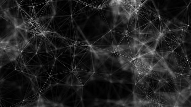 Polygonale abstrakte formen netzwerkverbindung low-pol-digital-big-data-konzept