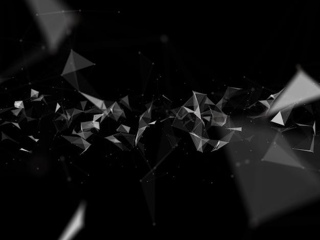 Polygonaler 3d-verbindungshintergrund mit verbindungslinien und punkten