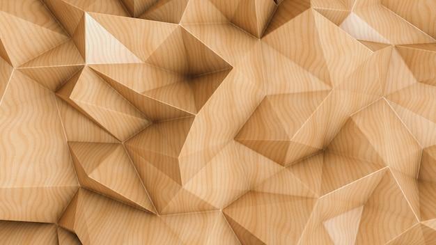 Polygonaler abstrakter hintergrund mit hölzerner beschaffenheit