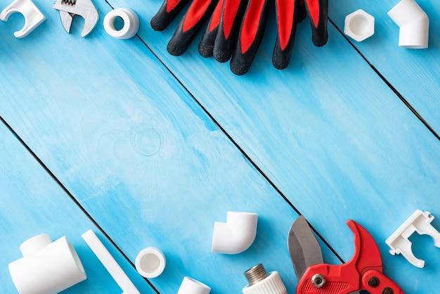 Polypropylen-ersatzteile für wasserleitungen mit werbefläche.