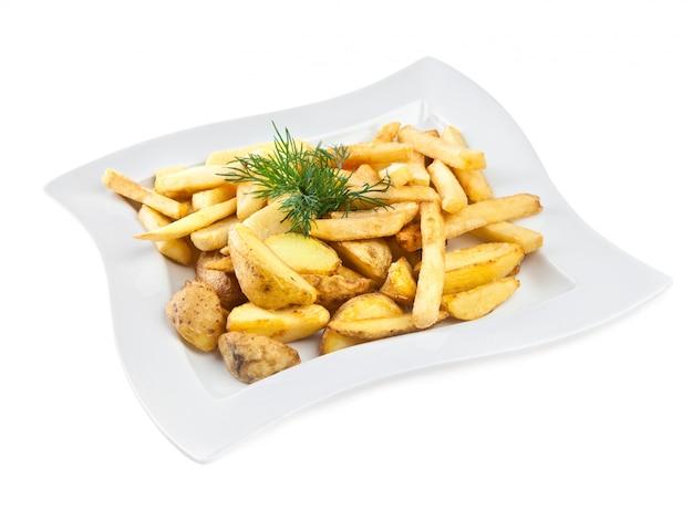 Pommes frites isoliert