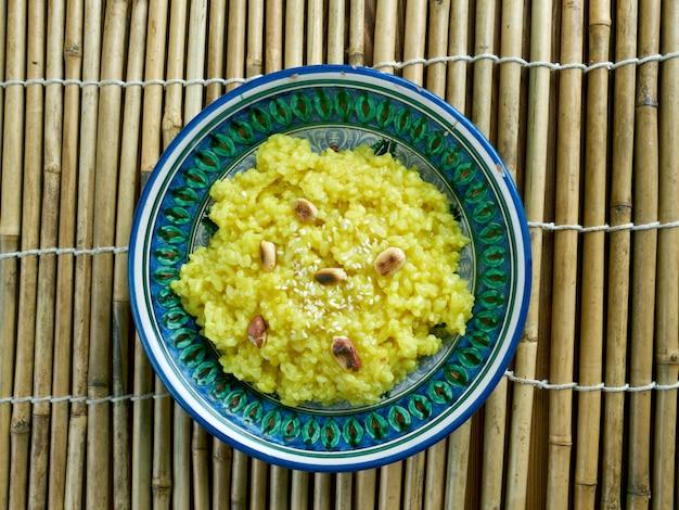 Pongal chutney - südindisches reis-linsen-risotto mit kokos-chutney