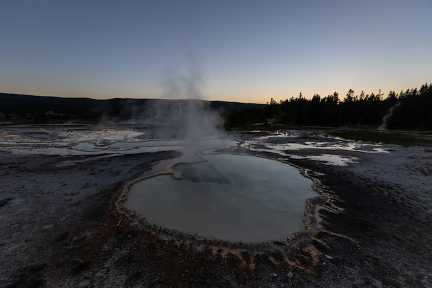 Pools bei yellowstone nnational park