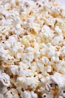 Popcorn hintergrund draufsicht nahaufnahme.