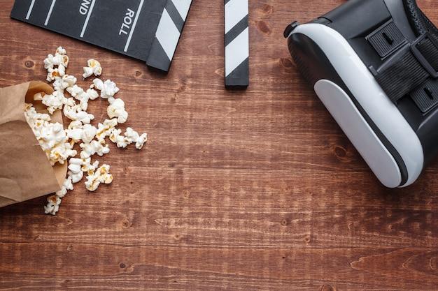 Popcorn- und vr-brille