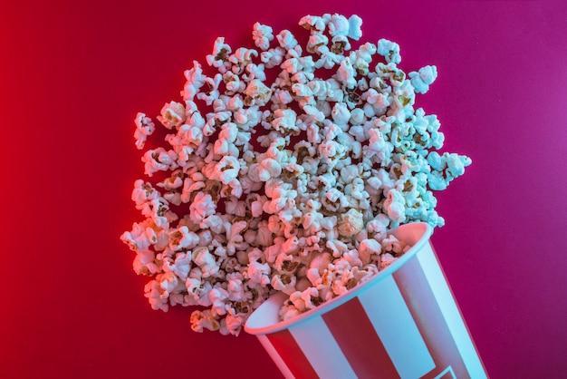 Popcornhintergrund für kinokonzept