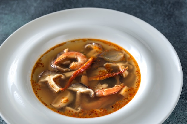 Portion thai tom yum suppe