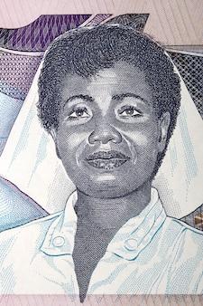 Porträt der frau vom alten ghanaischen geld