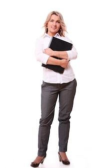 Porträt der glücklichen gealterten geschäftsfrau