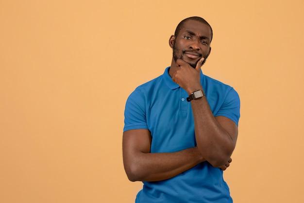 Porträt des afroamerikanischen mannes