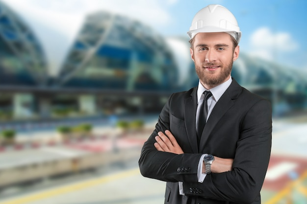 Porträt des architekten man
