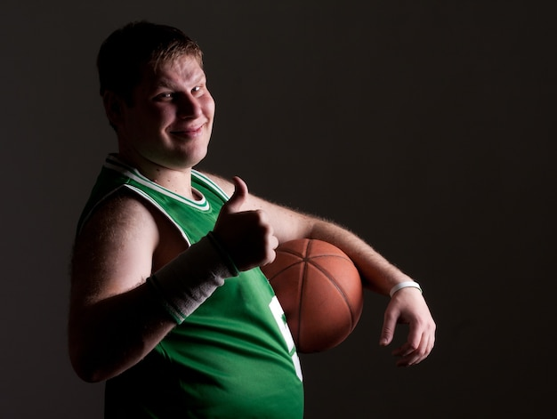Porträt des basketballspielers