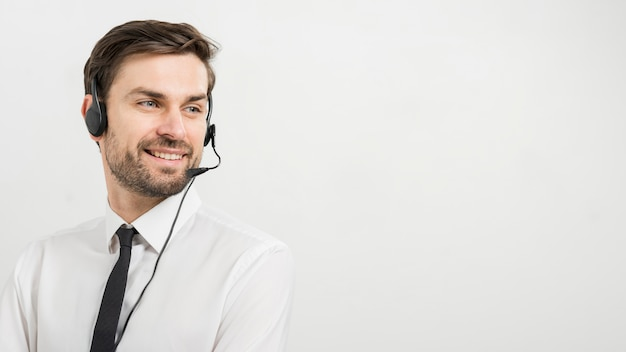 Porträt des call-center-agenten