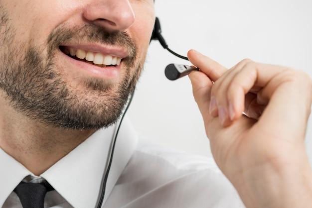 Porträt des call-center-agenten
