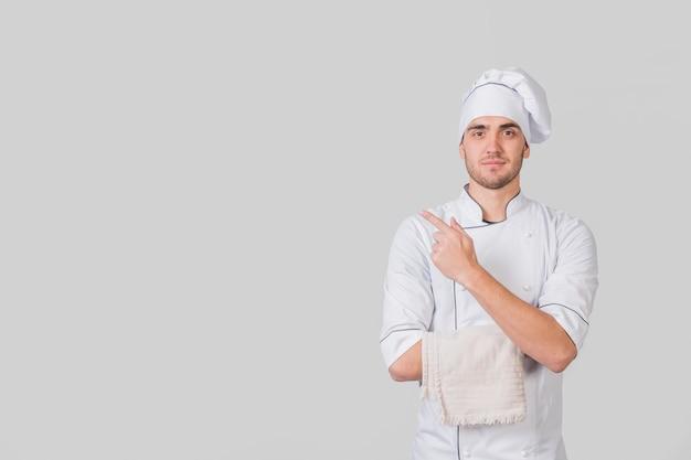 Porträt des chefs copyspace darstellend