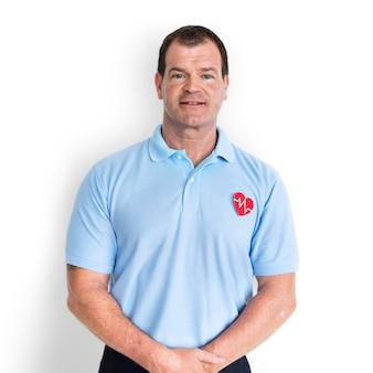 Porträt des erste-hilfe-trainers