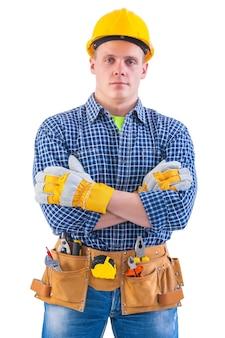 Porträt des jungen arbeiters