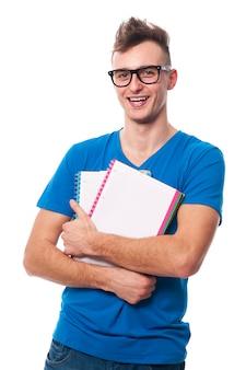Porträt des jungen funky studenten