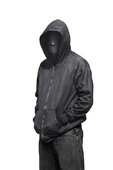 Porträt des mannes anonyme maske tragend