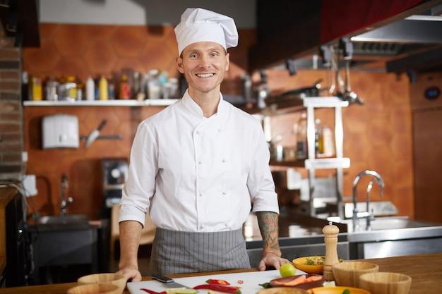 Porträt des professionellen kochs