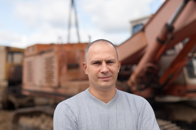 Porträt des traktorbetreibers
