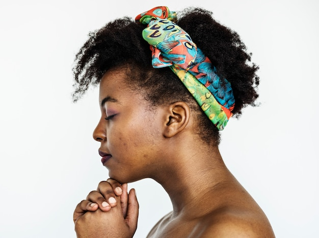 Porträt einer afrikanischen frau