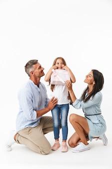 Porträt einer aufgeregten familie