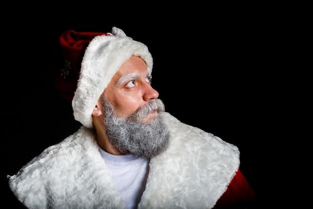 Porträt einer brutalen reifen santa claus