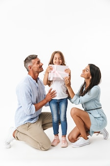 Porträt einer freudigen familie