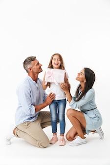 Porträt einer fröhlichen familie