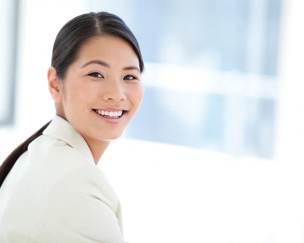Porträt einer glücklichen geschäftsfrau