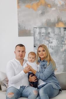 Porträt einer jungen familie