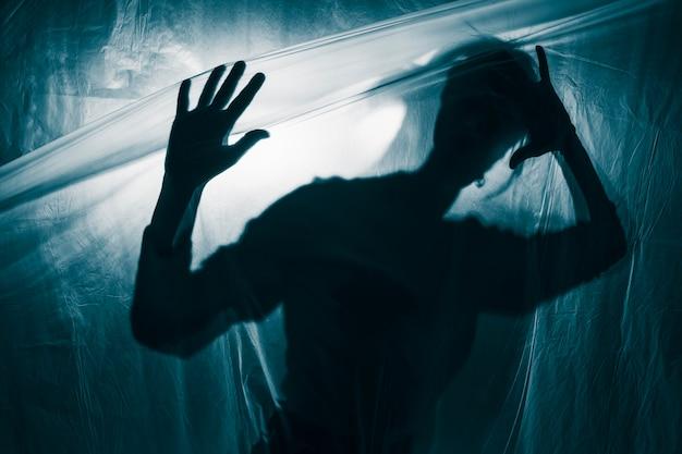 Porträt einer person mit psychischen störungen