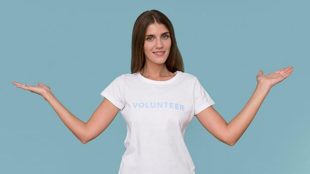 Porträt eines humanitären freiwilligen
