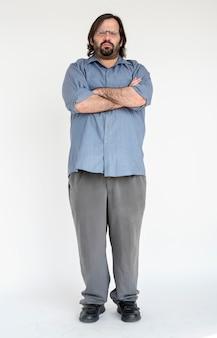 Porträt eines mannes mit langem haar und bart