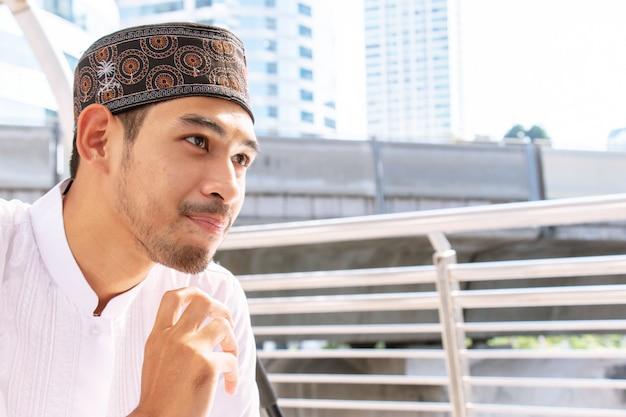 Porträt eines muslimischen mannes.
